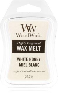 Woodwick White Honey tartelette en cire