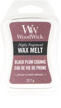 Woodwick Black Plum tartelette en cire