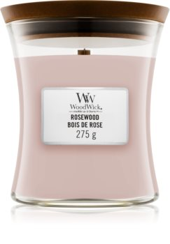 Woodwick Rosewood scented candle Wooden Wick