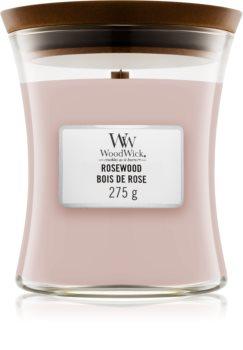 Woodwick Rosewood świeczka zapachowa  z drewnianym knotem