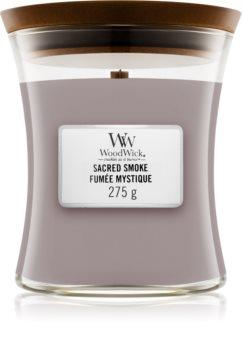 Woodwick Sacred Smoke candela profumata con stoppino in legno