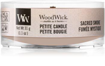 Woodwick Sacred Smoke svečnik za votivno svečo z lesenim stenjem