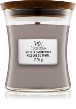 Woodwick Suede & Sandalwood ароматна свещ