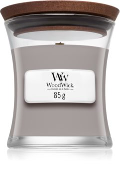 Woodwick Suede & Sandalwood scented candle