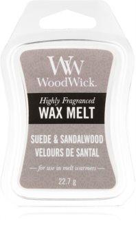 Woodwick Suede & Sandalwood illatos viasz aromalámpába