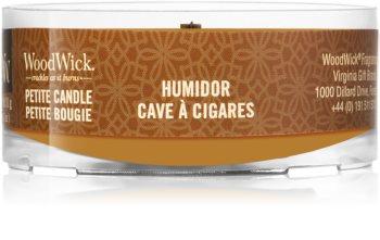Woodwick Humidor mala mirisna svijeća bez staklene posude s drvenim fitiljem
