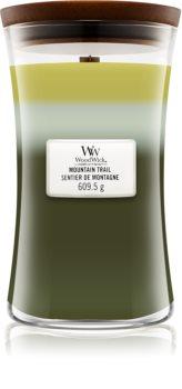 Woodwick Trilogy Mountain Trail lumânare parfumată  cu fitil din lemn