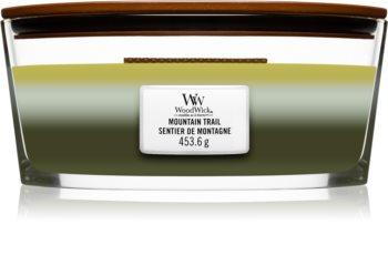 Woodwick Trilogy Mountain Trail bougie parfumée avec mèche en bois (hearthwick)