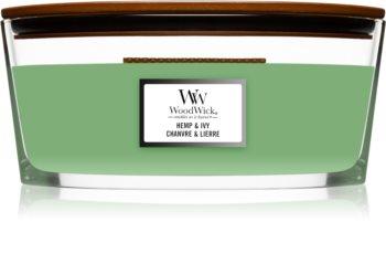 Woodwick Hemp & Ivy ароматна свещ  с дървен фитил (hearthwick)