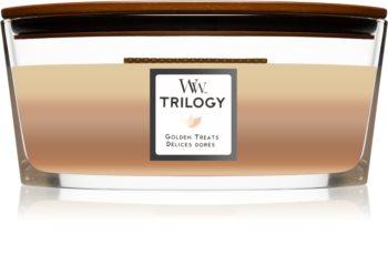 Woodwick Trilogy Golden Treats Duftkerze mit holzdocht (hearthwick)