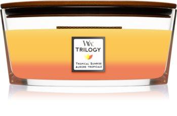 Woodwick Trilogy Tropical Sunrise mirisna svijeća s drvenim fitiljem (hearthwick)