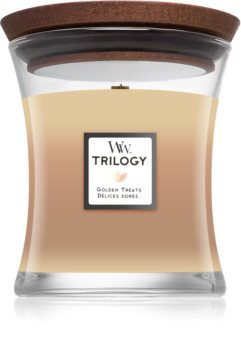 Woodwick Trilogy Golden Treats scented candle Wooden Wick