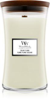 Woodwick Solar Ylang candela profumata