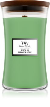 Woodwick Hemp & Ivy scented candle Wooden Wick