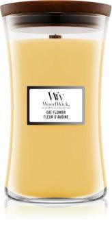Woodwick Oat Flower lumânare parfumată  cu fitil din lemn