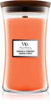 Woodwick Tamarind & Stonefruit scented candle Wooden Wick