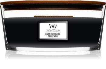 Woodwick Black Peppercorn geurkaars met een houten lont (hearthwick)