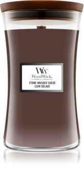 Woodwick Stone Washed Suede bougie parfumée avec mèche en bois