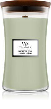 Woodwick Lavender & Cedar ароматна свещ