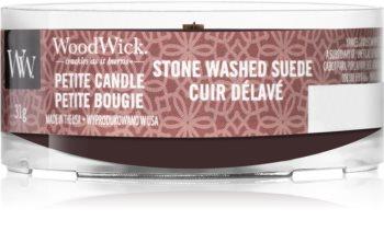 Woodwick Stone Washed Suede votivní svíčka