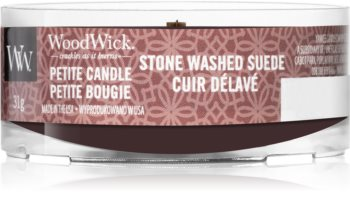 Woodwick Stone Washed Suede вотивна свічка
