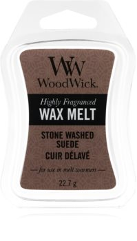 Woodwick Stone Washed Suede cera per lampada aromatica