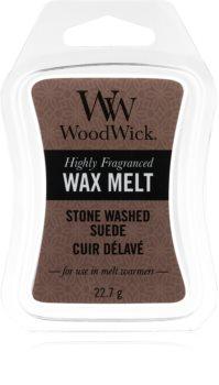 Woodwick Stone Washed Suede illatos viasz aromalámpába