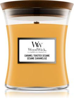 Woodwick Caramel Toasted Sesame Duftkerze mit Holzdocht
