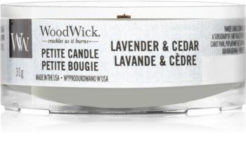 Woodwick Lavender & Cedar mala mirisna svijeća bez staklene posude