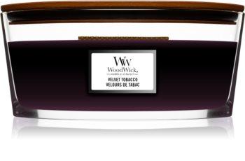 Woodwick Velvet Tobacco Tuoksukynttilä puinen sydän (sydänlanka)