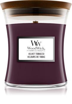 Woodwick Velvet Tobacco mirisna svijeća s drvenim fitiljem
