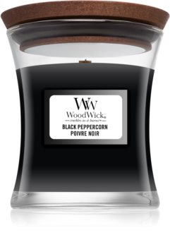 Woodwick Black Peppercorn scented candle Wooden Wick