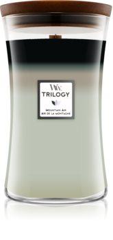 Woodwick Trilogy Mountain Trail candela profumata