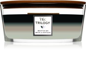 Woodwick Trilogy Mountain Trail ароматна свещ  с дървен фитил (hearthwick)