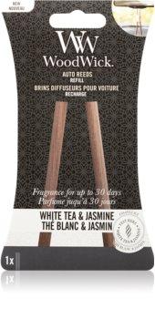 Woodwick White Tea & Jasmine Auton ilmanraikastin Täyttöpakkaus