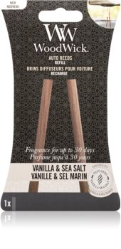 Woodwick Vanilla & Sea Salt luftfrisker til bil Genopfyldning
