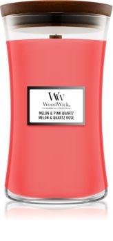 Woodwick Melon & Pink Quarz illatos gyertya  fa kanóccal