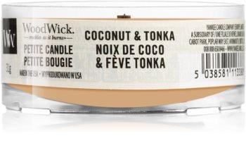 Woodwick Coconut & Tonka sampler z drewnianym knotem