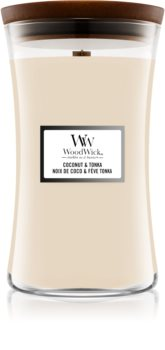 Woodwick Coconut & Tonka Duftkerze mit Holzdocht