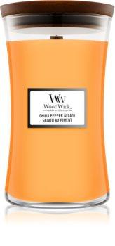 Woodwick Chilli Pepper Gelato vonná svíčka s dřevěným knotem