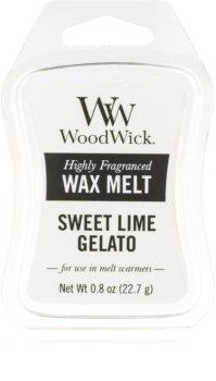 Woodwick Sweet Lime Gelato tartelette en cire
