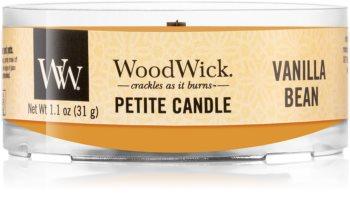 Woodwick Vanilla Bean votiefkaarsen met een houten lont