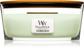 Woodwick Cucumber Melon świeczka zapachowa  453,6 g z drewnianym knotem (Hearthwick)