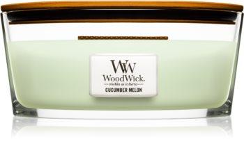 Woodwick Cucumber Melon vonná svíčka 453,6 g s dřevěným knotem (Hearthwick)