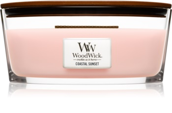Woodwick Coastal Sunset scented candle wooden wick (hearthwick)