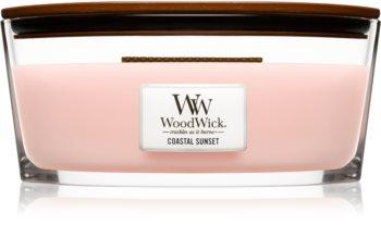 Woodwick Coastal Sunset vonná svíčka s dřevěným knotem (hearthwick)