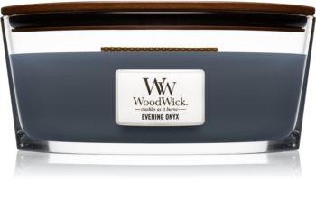 Woodwick Evening Onyx lumânare parfumată  cu fitil din lemn (hearthwick)