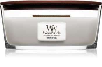 Woodwick Warm Wool candela profumata con stoppino in legno (hearthwick)