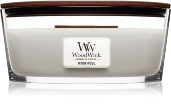 Woodwick Warm Wool lumânare parfumată  cu fitil din lemn (hearthwick)