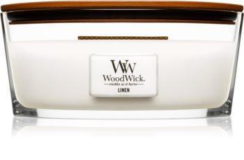 Woodwick Linen ароматна свещ  с дървен фитил (hearthwick)